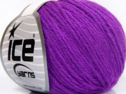 Lot of 8 Skeins Ice Yarns BABY MERINO SOFT DK (40% Merino Wool) Yarn Lavender