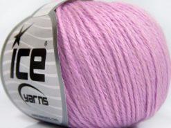 Lot of 8 Skeins Ice Yarns BABY MERINO SOFT DK (40% Merino Wool) Yarn Light Lilac