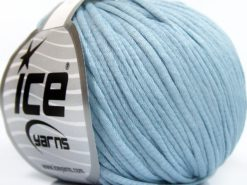 Lot of 8 Skeins Ice Yarns TUBE COTTON WORSTED (67% Cotton) Yarn Baby Blue
