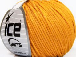 Lot of 8 Skeins Ice Yarns TUBE COTTON WORSTED (67% Cotton) Yarn Gold