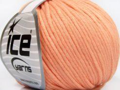 Lot of 8 Skeins Ice Yarns TUBE COTTON WORSTED (67% Cotton) Yarn Light Salmon