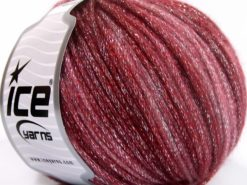 Lot of 8 Skeins Ice Yarns PARIS (30% Wool) Hand Knitting Yarn Burgundy Shades