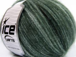 Lot of 8 Skeins Ice Yarns PARIS (30% Wool) Hand Knitting Yarn Green Shades