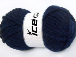 Lot of 4 x 100gr Skeins Ice Yarns ATLAS SUPERBULKY Hand Knitting Yarn Navy