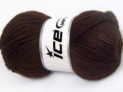 Lot of 4 x 100gr Skeins Ice Yarns RAINBOW SOLID Hand Knitting Yarn Dark Brown