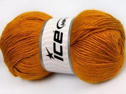 Lot of 4 x 100gr Skeins Ice Yarns RAINBOW SOLID Hand Knitting Yarn Gold