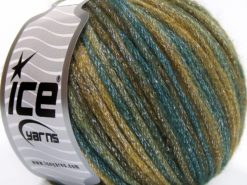 Lot of 8 Skeins Ice Yarns PARIS (30% Wool) Hand Knitting Yarn Khaki Teal Brown