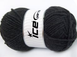 Lot of 4 x 100gr Skeins Ice Yarns MERINO CHUNKY (50% Merino Wool) Yarn Anthracite Black