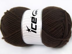 Lot of 4 x 100gr Skeins Ice Yarns MERINO CHUNKY (50% Merino Wool) Yarn Coffee Brown