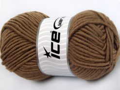 Lot of 4 x 100gr Skeins Ice Yarns MERINO CHUNKY (50% Merino Wool) Yarn Brown