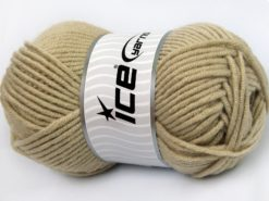 Lot of 4 x 100gr Skeins Ice Yarns MERINO CHUNKY (50% Merino Wool) Yarn Beige