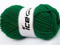 Lot of 4 x 100gr Skeins Ice Yarns MERINO CHUNKY (50% Merino Wool) Yarn Dark Green