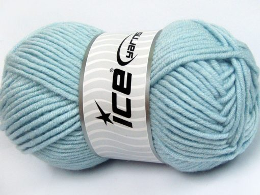 Lot of 4 x 100gr Skeins Ice Yarns MERINO CHUNKY (50% Merino Wool) Yarn Baby Blue