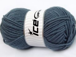 Lot of 4 x 100gr Skeins Ice Yarns MERINO CHUNKY (50% Merino Wool) Yarn Smoke Blue