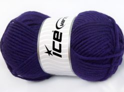 Lot of 4 x 100gr Skeins Ice Yarns MERINO CHUNKY (50% Merino Wool) Yarn Purple