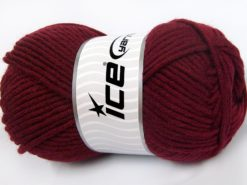 Lot of 4 x 100gr Skeins Ice Yarns MERINO CHUNKY (50% Merino Wool) Yarn Burgundy
