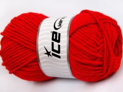 Lot of 4 x 100gr Skeins Ice Yarns MERINO CHUNKY (50% Merino Wool) Yarn Red
