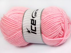Lot of 4 x 100gr Skeins Ice Yarns MERINO CHUNKY (50% Merino Wool) Yarn Light Pink
