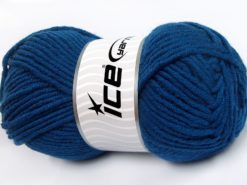 Lot of 4 x 100gr Skeins Ice Yarns MERINO CHUNKY (50% Merino Wool) Yarn Dark Blue