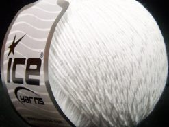 Lot of 4 x 100gr Skeins Ice Yarns SUMMER (70% Mercerized Cotton 30% Viscose) Yarn White