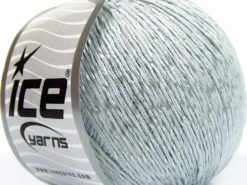 Lot of 4 x 100gr Skeins Ice Yarns SUMMER (70% Mercerized Cotton 30% Viscose) Yarn Light Grey