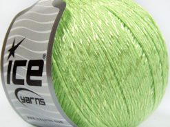 Lot of 4 x 100gr Skeins Ice Yarns SUMMER (70% Mercerized Cotton 30% Viscose) Yarn Light Green