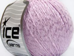 Lot of 4 x 100gr Skeins Ice Yarns SUMMER (70% Mercerized Cotton 30% Viscose) Yarn Light Lilac