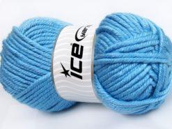 Lot of 2 x 200gr Skeins Ice Yarns ATLAS JUMBO Hand Knitting Yarn Blue