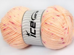 Lot of 4 x 100gr Skeins Ice Yarns BABY LOLLIPOP Yarn Light Salmon Pink Shades