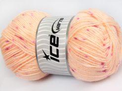 Lot of 4 x 100gr Skeins Ice Yarns BABY LOLLIPOP Yarn Light Salmon Pink Shades