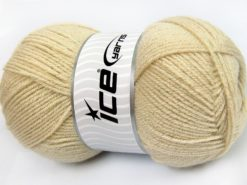 Lot of 4 x 100gr Skeins Ice Yarns STAR GLITZ Hand Knitting Yarn Light Beige