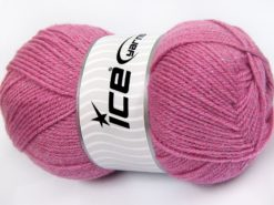 Lot of 4 x 100gr Skeins Ice Yarns STAR GLITZ Hand Knitting Yarn Candy Pink