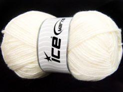 Lot of 4 x 100gr Skeins Ice Yarns MERINO GOLD LIGHT (60% Merino Wool) Yarn White