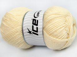 Lot of 4 x 100gr Skeins Ice Yarns MERINO GOLD LIGHT (60% Merino Wool) Yarn Cream