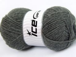 Lot of 4 x 100gr Skeins Ice Yarns MERINO GOLD LIGHT (60% Merino Wool) Yarn Grey