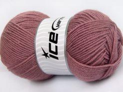 Lot of 4 x 100gr Skeins Ice Yarns MERINO GOLD LIGHT (60% Merino Wool) Yarn Rose Pink