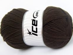Lot of 4 x 100gr Skeins Ice Yarns SALE BABY Hand Knitting Yarn Dark Brown