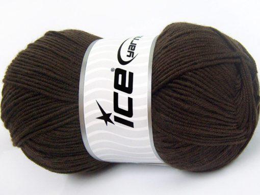 Lot of 4 x 100gr Skeins Ice Yarns SALE BABY Hand Knitting Yarn Dark Brown