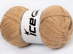 Lot of 4 x 100gr Skeins Ice Yarns LORENA (50% Cotton) Yarn Light Camel