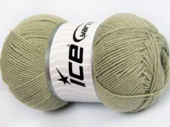 Lot of 4 x 100gr Skeins Ice Yarns LORENA (50% Cotton) Yarn Water Green