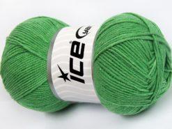Lot of 4 x 100gr Skeins Ice Yarns LORENA (50% Cotton) Hand Knitting Yarn Green