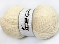 Lot of 4 x 100gr Skeins Ice Yarns KRISTAL Hand Knitting Yarn Light Beige
