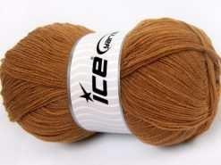 Lot of 4 x 100gr Skeins Ice Yarns KRISTAL Hand Knitting Yarn Light Brown