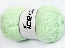 Lot of 4 x 100gr Skeins Ice Yarns KRISTAL Hand Knitting Yarn Mint Green