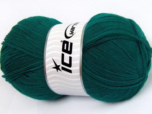 Lot of 4 x 100gr Skeins Ice Yarns KRISTAL Hand Knitting Yarn Emerald Green