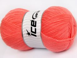 Lot of 4 x 100gr Skeins Ice Yarns KRISTAL Hand Knitting Yarn Light Orange