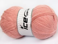 Lot of 4 x 100gr Skeins Ice Yarns KRISTAL Hand Knitting Yarn Powder Pink
