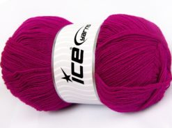 Lot of 4 x 100gr Skeins Ice Yarns KRISTAL Hand Knitting Yarn Dark Fuchsia