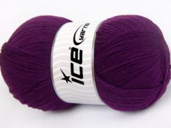 Lot of 4 x 100gr Skeins Ice Yarns KRISTAL Hand Knitting Yarn Purple