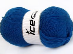 Lot of 4 x 100gr Skeins Ice Yarns KRISTAL Hand Knitting Yarn Royal Blue